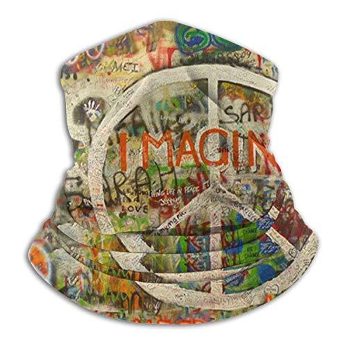 Niet van toepassing Nek Warmer Nek Gaiter Warmer Balaclavas Rechthoek Vrede Teken Graffiti Alles wat je nodig hebt Is Liefde Masker Bandana Multifunctionele Hoofd Sjaal Gezicht Masker
