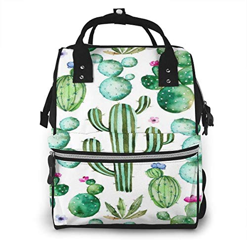 Cactus planten Spikes Cartoon Groene Grote Capaciteit Multifunctionele Mummy Rugzak Grote Capaciteit Landscap Licht Baby Luier Tassen