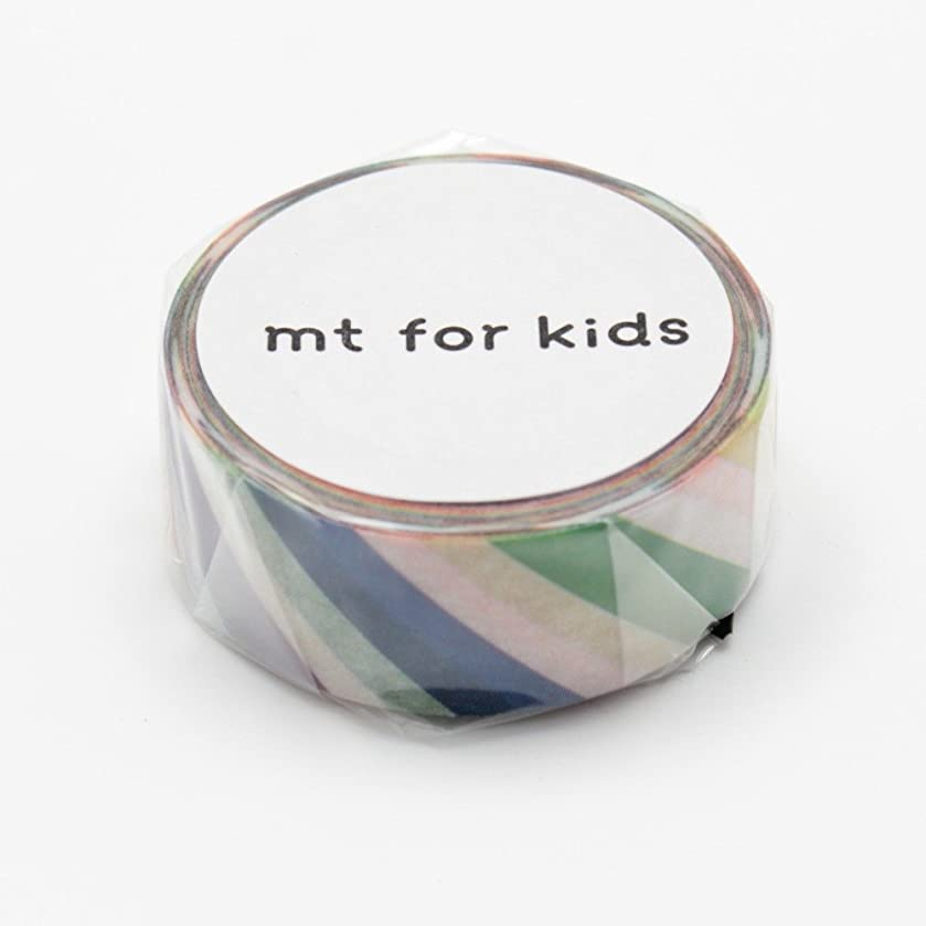 Mt Washi Masking Tape for Kids Colorful Stripes (MT01KID001)
