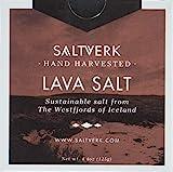 Lava Salt - Meersalzflocken mit Aktivkohle gefärbt
