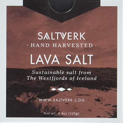 Lava Salt - Meersalzflocken mit Aktivkohle gefärbt | Sea Salt Flakes | 125 g | schwarzes, isländisches Feinschmecker-Salz