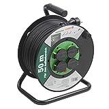 Meister Kabeltrommel H05RR-F3G1,5, IP44 - 50 m Kabel - Thermoschutz-Schalter - Outdoor / Kabelrolle...
