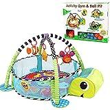 CX TECH Neugeborene Activity Gym Baby Crawl Playmat Tiermuster Abnehmbare Mitnehmhilfe Babyspielmatte Baby Komfortabel & Unterhaltung