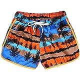 Pantalones Cortos de Playa de Surf Informales de Verano para Mujer Pantalones Cortos clásicos Impermeables de Secado rápido con Estampado de Moda Large