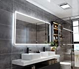 PetusHouse 72x36 Inch LED Backlit Bathroom Mirror, Wall-Mounted Vanity Mirrors with Lights, Dimmable Anti-Fog 6000K CRI90 5MM Copper Free Mirrors, Horizontal & Vertical
