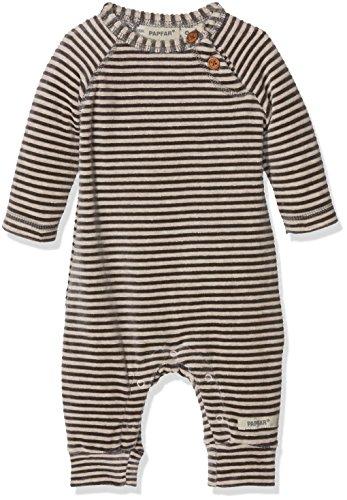 Papfar Soft Velvet Spieler Langarm Barboteuse, Multicolore (Chateau Grey 417), 92 cm (Taille Fabricant: 2Y) Mixte bébé