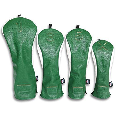 Craftsman Golf Universal Verde Blanco Pu Cuero Driver/Fairway Madera/Hybrid Casco #1 #...