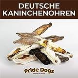 PrideDogs Kaninchenohren mit Fell 500g der Premium Kausnack für Ihren Hund | 100% Deutscher Herstellung | im geruchsneutralen Beutel | Kauartikel