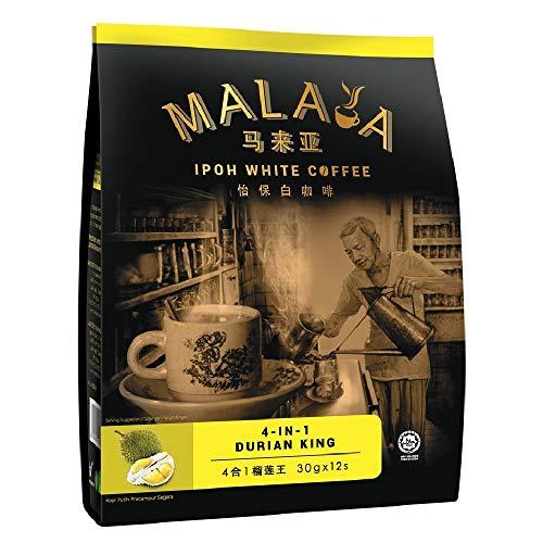 Malaya Ipoh White Coffee 4 In1 Durian King 360g (628MART) (12)
