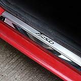wowowa 4 pz Soglia Porta Auto Decorazione in Acciaio Inox Finiture battitacco battitacco battiscopa Protector Guard Cover per Ford Fiesta 2009-2015 2016 2017
