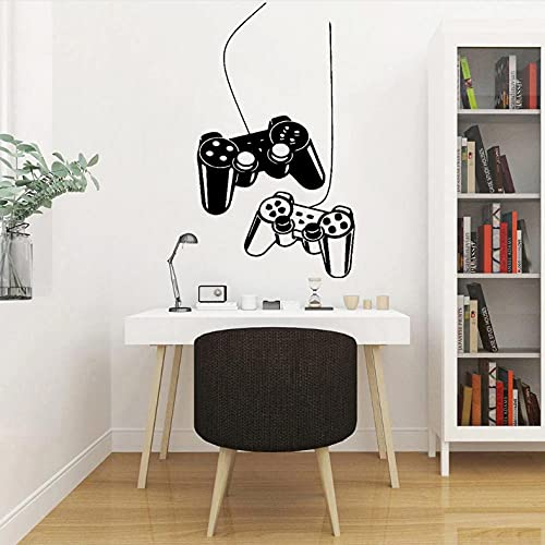 Xiaofang Controller Video Game Wall Decals for Boys Kids Room Playig Room Interior Home Decor Vinyl Self-Adhesive Wall Stickers Y555 Size: 57X32Cm
