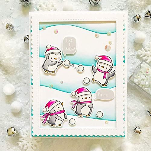 Everpertuk DIY Klar Silikonstempel Clear Stamp,Weihnachten Transparent Silikon Stempel,für Weihnachtskarten Herstellung Scrapbooking DIY Arts Crafts Fotoalbum Party Dekoration