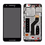 LCD display Digitizer touch screen Panel Lens Assembly For Google Huawei Nexus 6P H1511 H1512 (Black with Frame)
