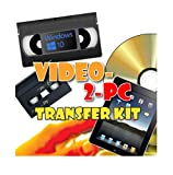 Video-2-PC DIY Video Capture Kit. For Windows 10, 8.1, 8, and 7. Links your VCR or Camcorder to the USB port...