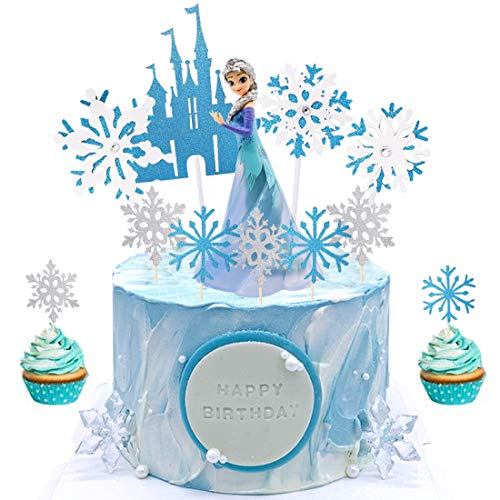 Frozen Mini Figurine Tomicy Frozen Decorazione della Torta Mini Figurine Mini Giocattoli per Bambini e Baby Shower Forniture per la Decorazione della Torta della Festa di Compleanno