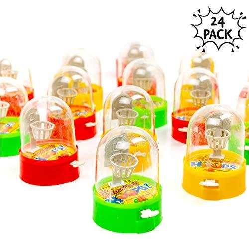24 Tisch Finger Basketball Schießspiele - Ein tragbares und stressfreies Familienerlebnis - ideale Spiele für Kinder im Haus - Perfekt für Party Spiel Klein Handliches Mitgebsel für Kinder