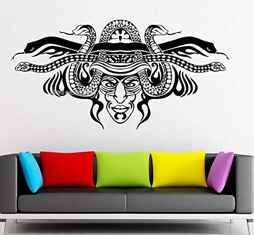 Häuptling Savage Maske Wandaufkleber Vinyl Aufkleber Wohnzimmer Wohnkultur Kunst Sofa Wand Hintergrund Tattoo Poster Aufkleber 83x42 cm