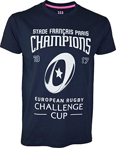 Stade Français - Maglietta Champion 2015 Top 14, collezione ufficiale, da uomo, taglia adulto