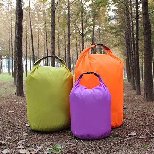 SEGRJ Bolsa de almacenamiento impermeable para camping, rafting, 10/20/40/70 L, color verde 70 L