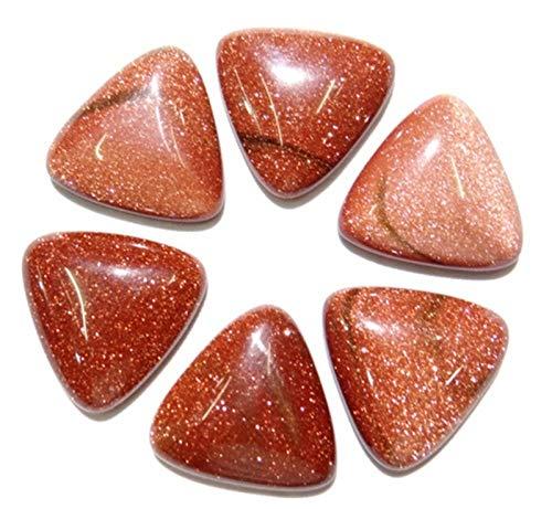 ABCBCA 20 PCS 25mm de Piedra Natural Turquesa Cristal de Cuarzo Ojo de Tigre triángulo cabujón Perlas para Collar Accesorios (Color : NO.9, Size : 25mm)