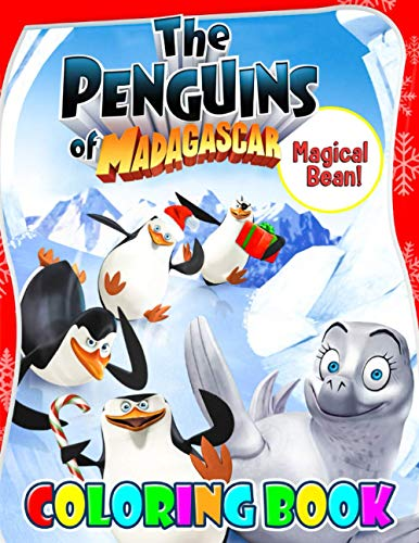Magical Bean! - The Penguins of Madagascar: Cute illustration - Learn and Fun Big Images - For Kids - Stimulate Creativity