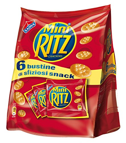 Saiwa crackers mini Ritz 6 Portionstüten 40g Salzige Kekse salted cookies