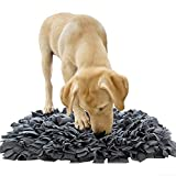 """YINXUE Pet Snuffle Mat Durable Washable Dog Slow Feeding Mat (22"""" x 16"""") Anti Slip Puzzle Blanket for Distracting Smell Training Foraging, Grey"""