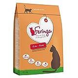 Feringa Erwachsene Getreidefreies Premium Trockenfutter für Katzen, Sparpaket 2X 6,5 kg, mit sorgfältig ausgewähltem Entenfleisch, leckeren Kürbis, Preiselbeeren und Katzenminze