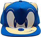 SEGA Sonic The Hedgehog Baseball Hat - Featuring Sonic, Tails, and Knuckles - Official Curved Brim, Adjustable Cap, Royal, One Size