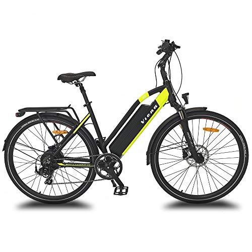 URBANBIKER vélo électrique VTC VIENA (Jaune 28'), Batterie Lithium-ION Samsung 840Wh...