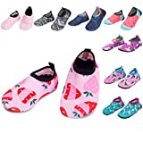 BARERUN Soft Baby Boys Girls Water Shoes Infant Barefoot Quick -Dry Anti- Slip Aqua Sock for Beach Swim Pool Red 6-12 Months Infant