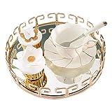 Organizador de bandejas para cosméticos Bandeja soporte de espejo Postre Tabla torta de la bandeja decorativa exhibición de la joyería bandeja Style Cosmetic joyería Caja Organizador para la cómoda