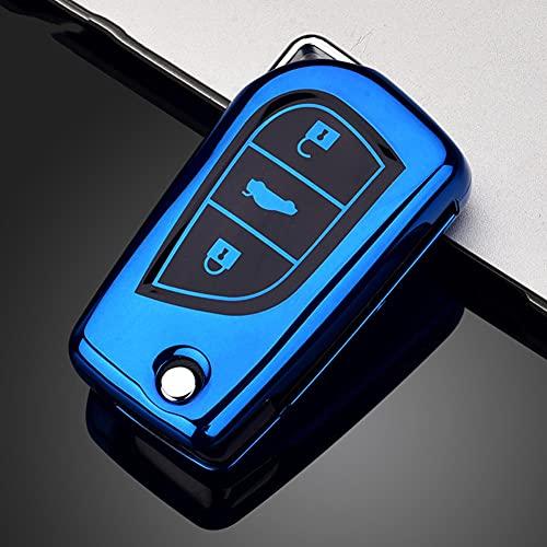 sieiGIE Cubierta de la Caja de la Llave del Control Remoto del Coche, Llavero de TPU, para Toyota Corolla Reiz Auris Avensis Verso Yaris Aygo Rav4 Scion TC IM
