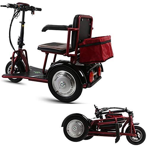 Xiaotian Elektrischer 3-Rad-Mobilitätsroller, Leichter Li-On-Akku Für Den Außenbereich Mit Mobilem Rollstuhl Für Erwachsene - Zusammenklappbar Und Kompakt Für Unterwegs,48V8AH/30km