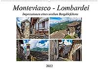 Monteviasco - Lombardei (Wandkalender 2022 DIN A2 quer): Impressionen eines uralten Bergdoerfchens (Monatskalender, 14 Seiten )