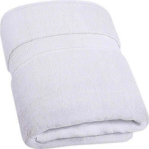 Utopia Towels - 700 gsm Toallas de baño de algodón (90 x 180 cm) Hoja de baño de Lujo hogar, los baños, la Piscina y el Gimnasio Algodón de Anillos (Blanco)