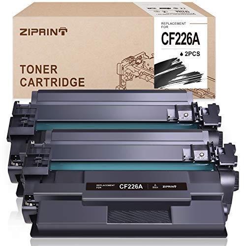 ZIPRINT Compatible Toner Cartridge Replacement for HP 26A 26X CF226A CF226X Toner for HP Laserjet Pro M402n M402dn M402dw M402d HP Laserjet Pro MFP M426fdw M426fdn Toner Printer (Black,2-Pack)