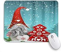NIESIKKLAマウスパッド 素敵なスプライトGnome雪だるまスノートナカイメリークリスマスツリー赤い鈴スノーフレーク ゲーミング オフィス最適 高級感 おしゃれ 防水 耐久性が良い 滑り止めゴム底 ゲーミングなど適用 用ノートブックコンピュータマウスマット