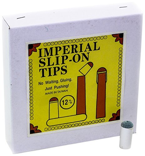 Imperial Economy 12 mm Slip-On Billiard/Pool Cue Tips, Box of 100
