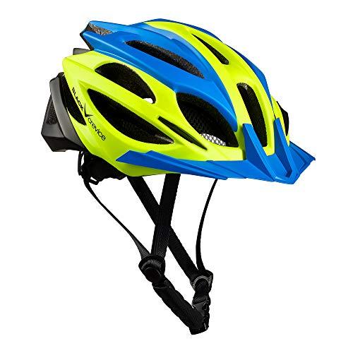 Black Crevice Casco Bici, Unisex-Adulto, Blu, Giallo, Nero, Small