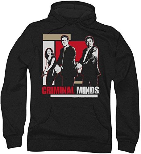 Criminal Minds - Männer mit gezogenen Waffen Hoodie, Large, Black