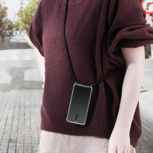 kwmobile Huawei Mate 10 Lite Hülle - mit Kordel zum Umhängen - Silikon Handy Schutzhülle für Huawei Mate 10 Lite - Transparent - 2