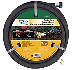 powerful Rocky Mountain Goods Soaking Hose – High Performance Rubber – 70% Water Saving – Includes Plug…