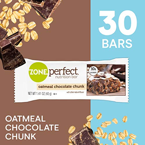ZonePerfect Protein Bars, Oatmeal Chocolate Chunk, High Protein, With Vitamins & Minerals (30 Count)