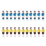 HomeDecTime 22 Piezas de Plástico Duro Futbolín Fútbol Fútbol Hombres Jugador Amarillo Y Azul