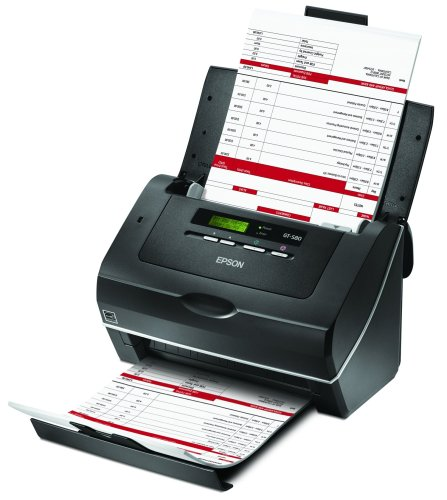 Epson WorkForce Pro GT-S80 Color Document Image Scanner Sheet-Fed Scanner with Auto Document Feeder (ADF) & Duplex (B11B194081)