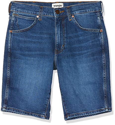 Wrangler Herren 5 Pocket Shorts, Blau (Game ON 12E), 32W
