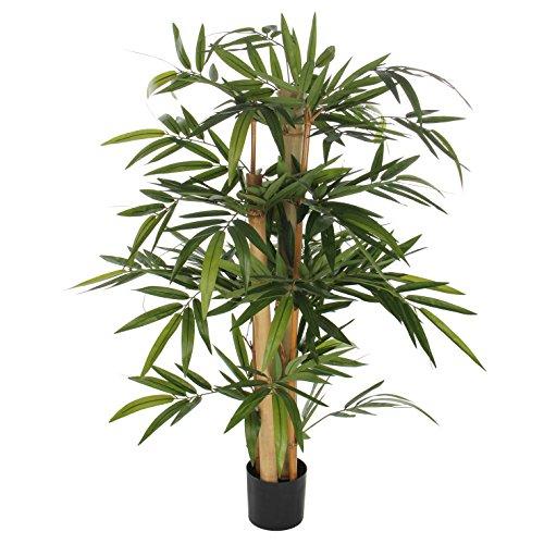 MICA Decorations Bambus im Kunststofftopf Kunstpflanze, Polyester, grün, 60 x 60 x 100 cm, 2-Einheiten