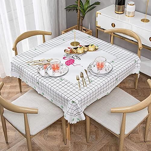 Mantel de poliéster a prueba de aceite, a prueba de agua, a prueba de arrugas, a prueba de manchas, adecuado para mesa de comedor y cocina, decoración rectangular de mesa, personalizable