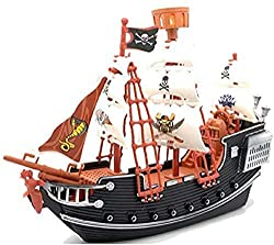 The Ram Pirate Ship Set Fantastic pirate galleon ship with sails and a crow's nest Two pirate figures included Safe and durable materials for hours of play. A lovely gift for kids aged 3 years and up. Pirate galleon measures approximately 26cm in len...